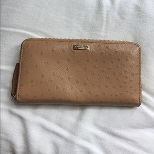Kate Spade tan wallet